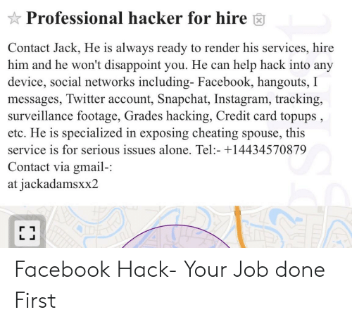 Professional Hacker for Hire Contact Jack He Is Always Ready to
