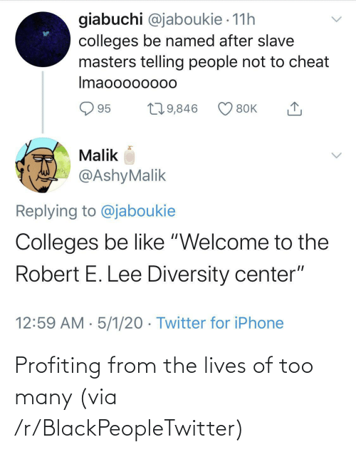 too many: Profiting from the lives of too many (via /r/BlackPeopleTwitter)