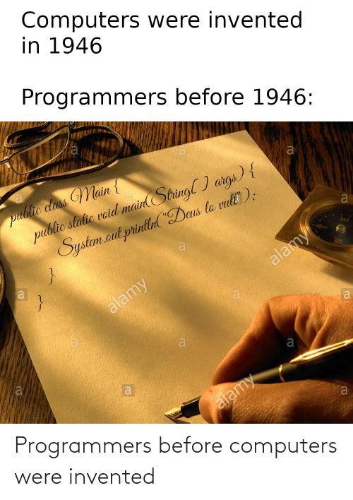 Computers: Programmers before computers were invented