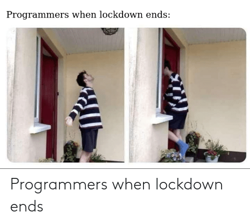Ends: Programmers when lockdown ends