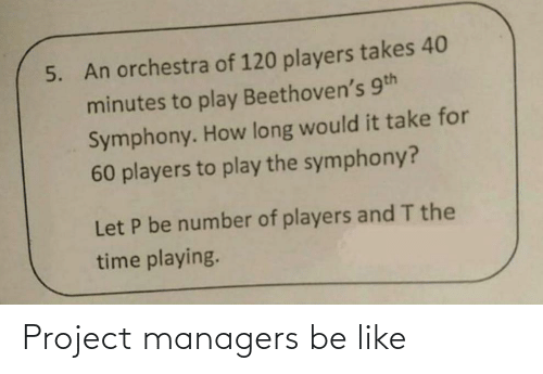 Be like: Project managers be like