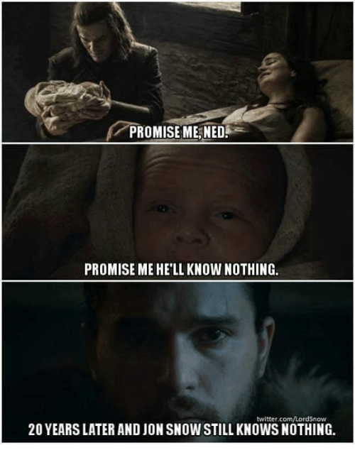 Promise Me Ned Promise Me Hell Know Nothing Twittercomlordsnow 20