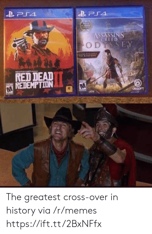 ps4: PS4  ASSASSINS  CREED  ODYSSEY  TARENE  RED DEAD  REDEMPTION  UBrSOFT The greatest cross-over in history via /r/memes https://ift.tt/2BxNFfx