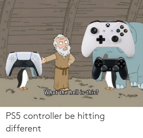 Different,  Controller, and Hitting: PS5 controller be hitting different