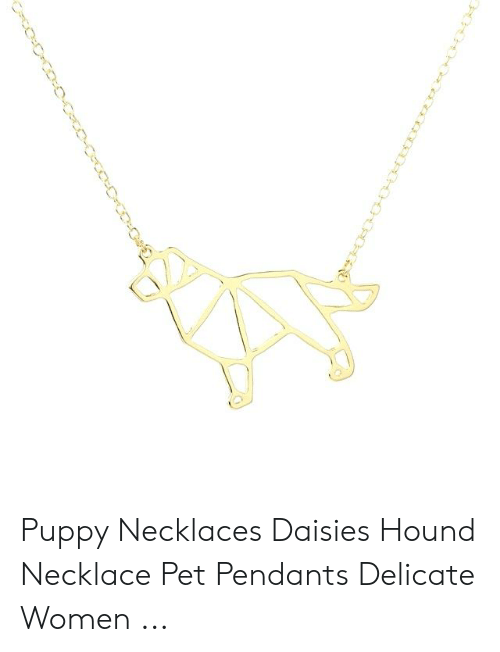 Puppy, Women, and Pet: Puppy Necklaces Daisies Hound Necklace Pet Pendants Delicate Women ...
