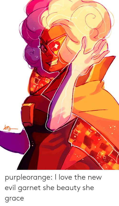 Love, Tumblr, and Blog: purpleorange:  I love the new evil garnet she beauty she grace