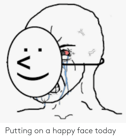 putting: Putting on a happy face today