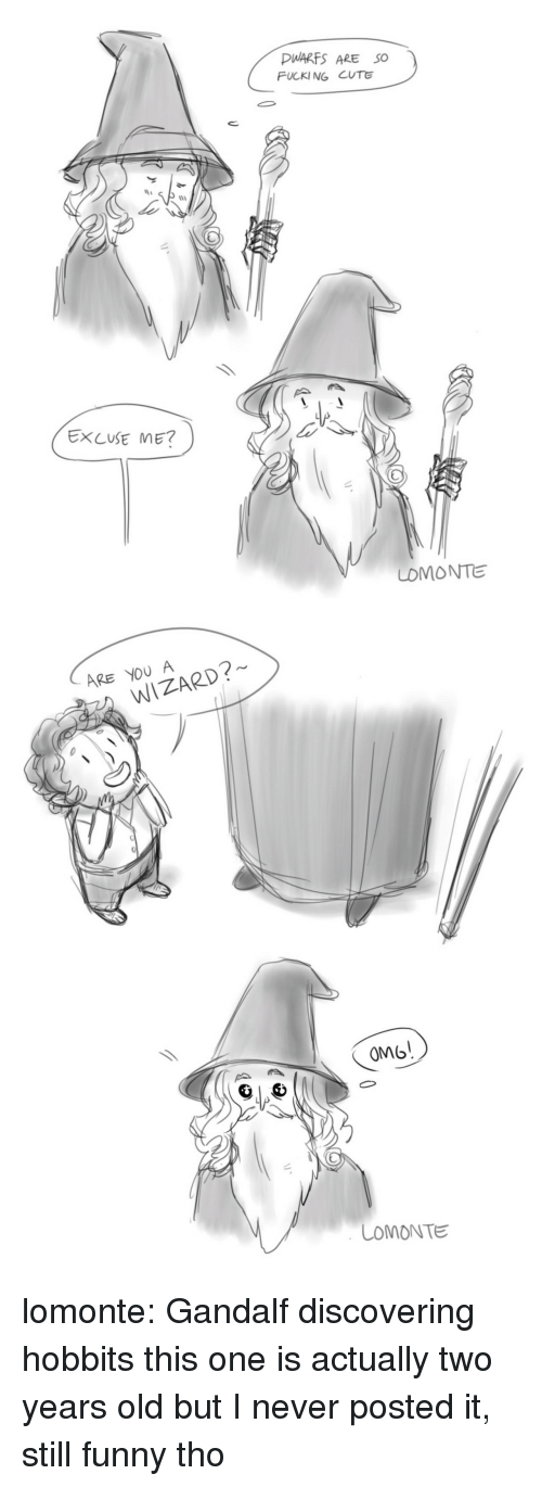 Gandalf: PWARFS ARE SO  FUCKI NG CUTE  1  EXCUSE ME?  LOMONTE   ARE YOU A  WIZARD?  OM  COMONTE lomonte: Gandalf discovering hobbits this one is actually two years old but I never posted it, still funny tho
