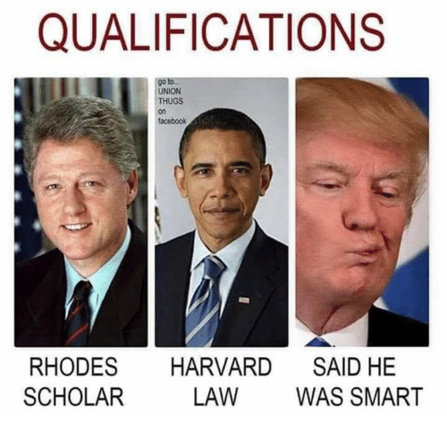 rhodes: QUALIFICATIONS  go to.  UNION  THUGS  on  facebook  RHODES HARVARD SAID HE  SCHOLAR  LAW WAS SMART