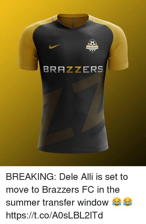 Soccer, Summer, and Brazzers: r.c.  BRAZZERS BREAKING: Dele Alli is set to move to Brazzers FC in the summer transfer window 😂😂 https://t.co/A0sLBL2lTd