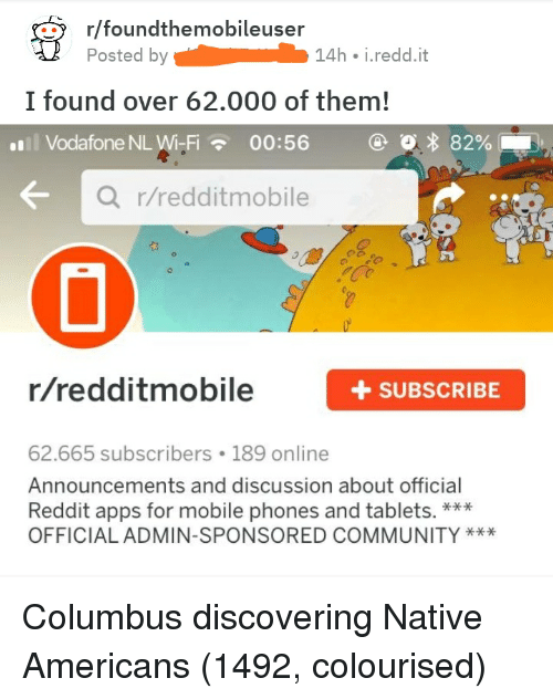Rfoundthemobileuser Posted by 14h Ireddit I Found Over 62000 of Them