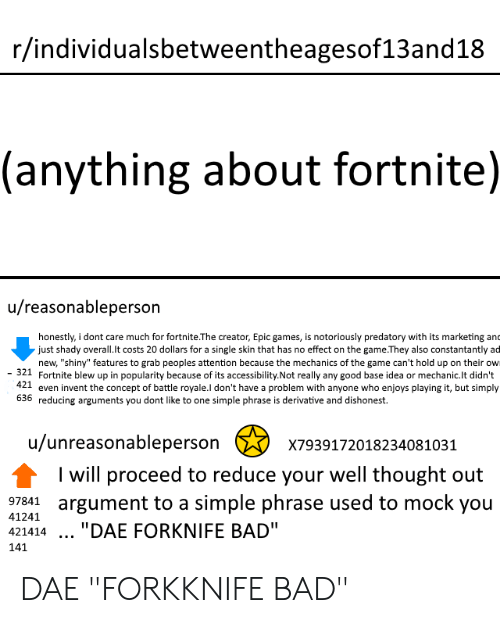 Rindividualsbetweentheagesof13and18 Anything About Fortnite