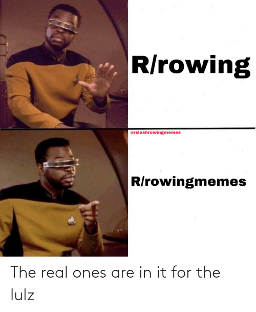 Rowing: R/rowing  @rslashrowingmemes  R/rowingmemes The real ones are in it for the lulz