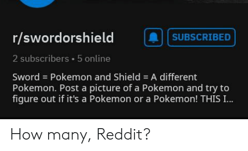 Rswordorshield Subscribed 2 Subscribers 5 Online Sword Pokemon And