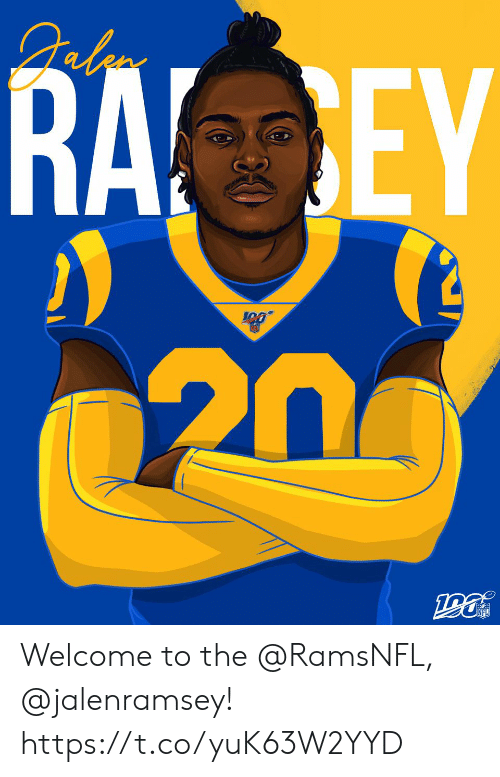 Memes, 🤖, and  Welcome: RA EY  20 Welcome to the @RamsNFL, @jalenramsey! https://t.co/yuK63W2YYD