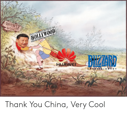 China, Thank You, and Cool: RABBIT  HoNSE  HOLLYWOOD  BrizZARD  HUAWE Thank You China, Very Cool