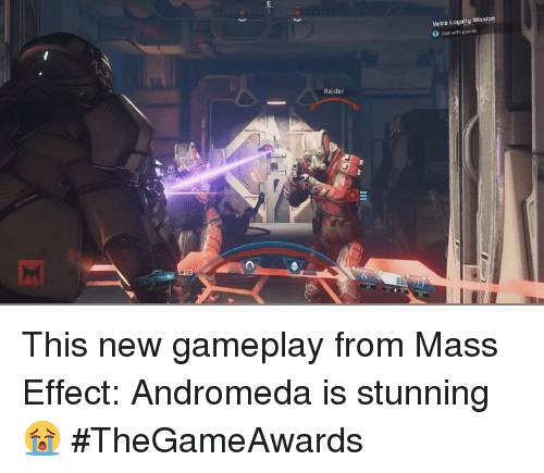 Mass Effect Andromeda: Raider  Vetra Loyalty Mission  0 with guards  Deal This new gameplay from Mass Effect: Andromeda is stunning 😭 #TheGameAwards