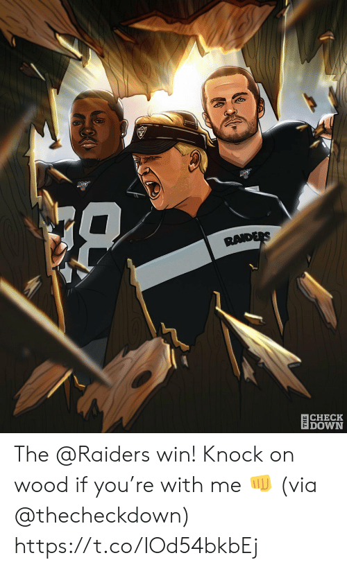 Memes, Raiders, and 🤖: RAIDERS  CHECK  |DOWN The @Raiders win!  Knock on wood if you're with me 👊 (via @thecheckdown) https://t.co/IOd54bkbEj