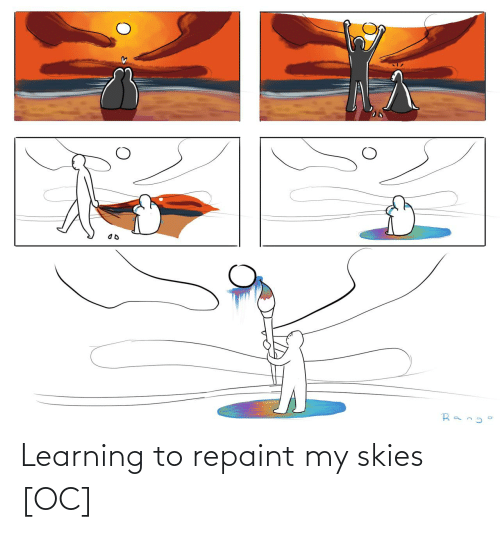 Learning: Rang Learning to repaint my skies [OC]