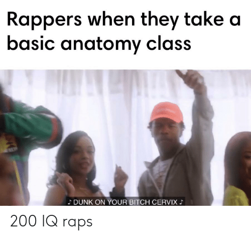 Rappers When They Take a Basic Anatomy Class DUNK ON YOUR