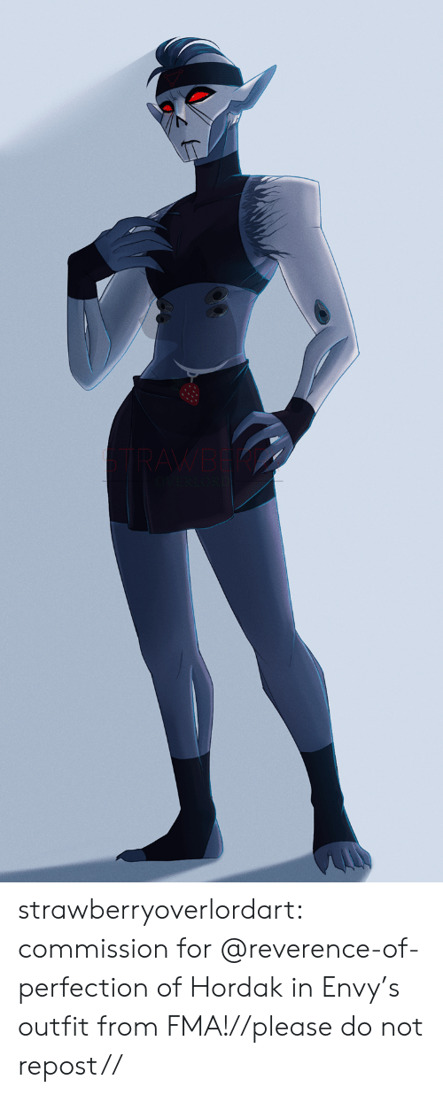 Outfit: RAWB  VERLO strawberryoverlordart:  commission for @reverence-of-perfection of Hordak in Envy's outfit from FMA!//please do not repost//