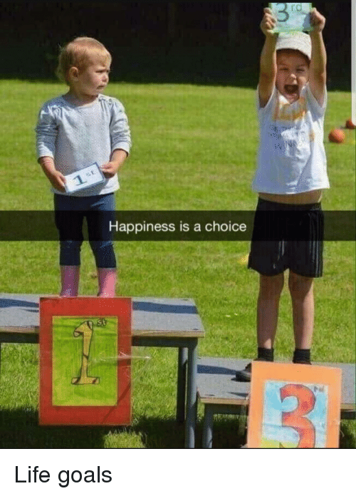 life goals: rd  Happiness is a choice Life goals
