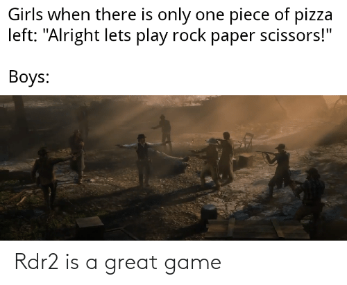 Rdr2: Rdr2 is a great game