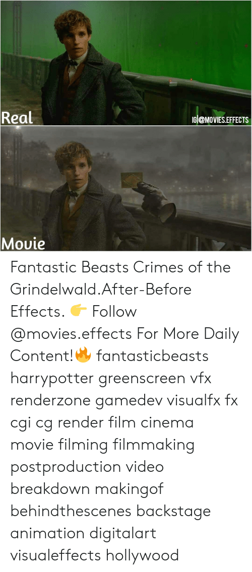 Animation: Real  IG @MoVIES.EFFECTS  Movie  VMC Fantastic Beasts Crimes of the Grindelwald.After-Before Effects. 👉 Follow @movies.effects For More Daily Content!🔥 fantasticbeasts harrypotter greenscreen vfx renderzone gamedev visualfx fx cgi cg render film cinema movie filming filmmaking postproduction video breakdown makingof behindthescenes backstage animation digitalart visualeffects hollywood