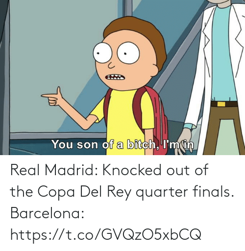 Del: Real Madrid: Knocked out of the Copa Del Rey quarter finals.  Barcelona: https://t.co/GVQzO5xbCQ