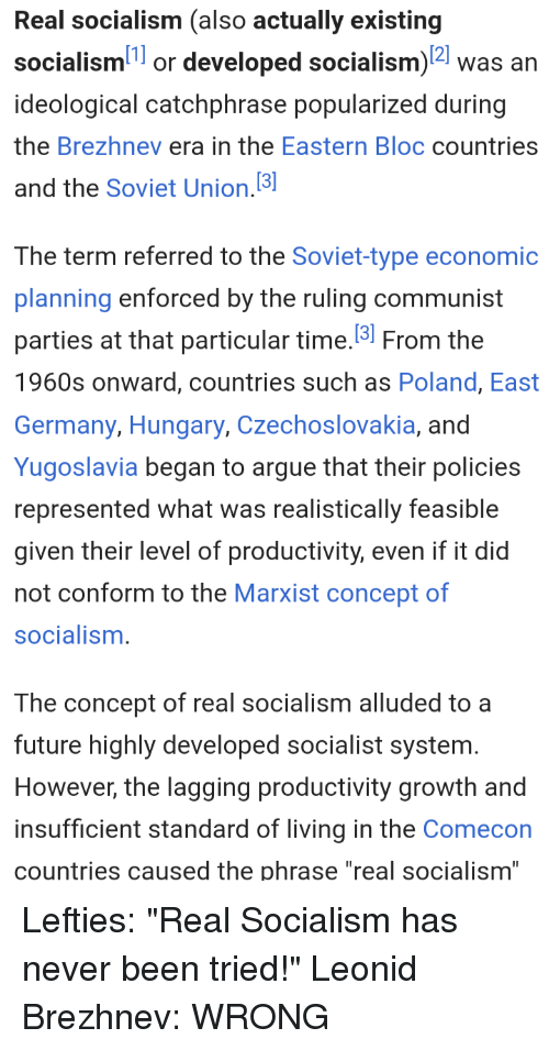 Real Socialism Also Actually Existing Socialism1 or Developed