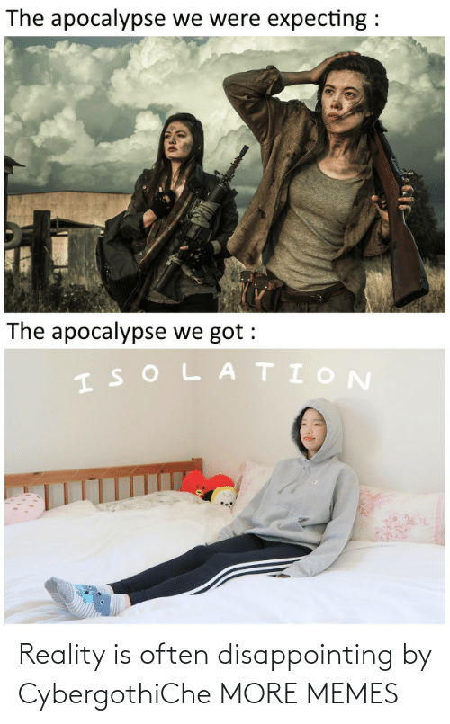 Reality: Reality is often disappointing by CybergothiChe MORE MEMES