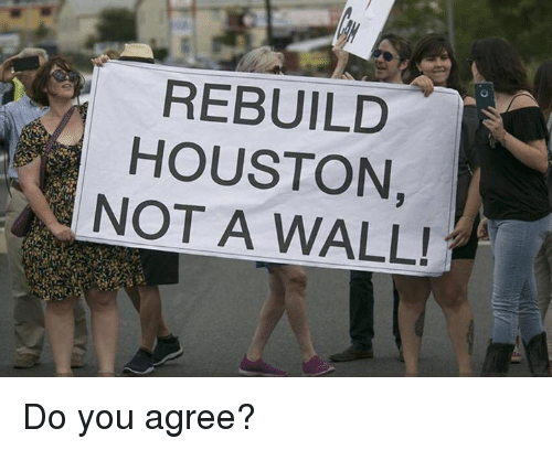 walle: REBUILD  HOUSTON,  NOT A WALL! Do you agree?