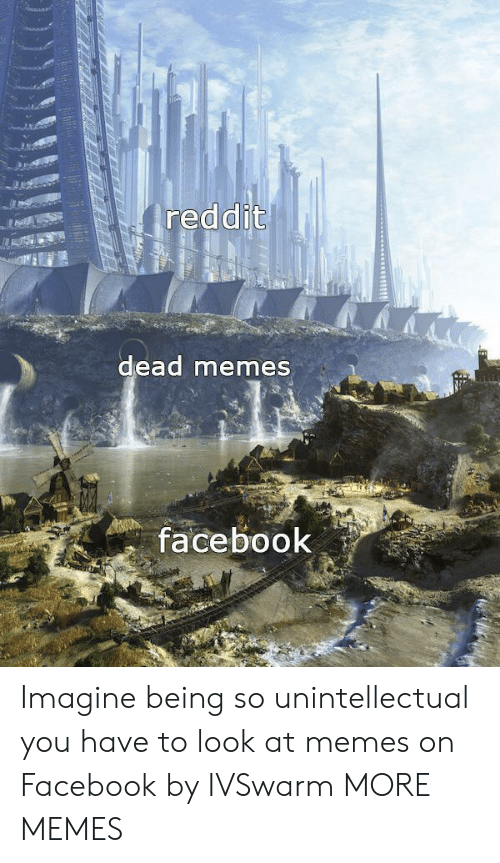 Dead Memes: reddit  dead memes  facebook Imagine being so unintellectual you have to look at memes on Facebook by IVSwarm MORE MEMES
