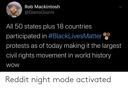 night: Reddit night mode activated