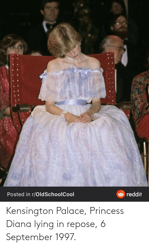 diana: reddit  Posted in r/OldSchoolCool Kensington Palace, Princess Diana lying in repose, 6 September 1997.