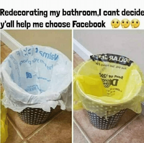 Facebook, Memes, and Help: Redecorating my bathroom,l cant decide  y'all help me choose Facebook  03