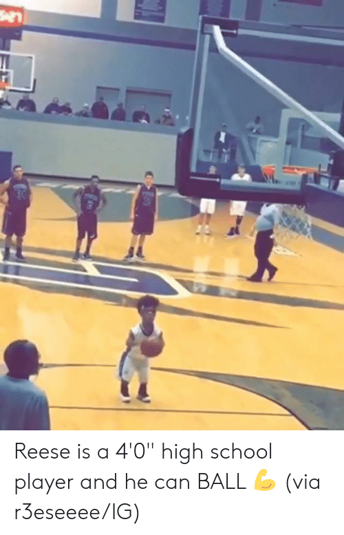 """School, Player, and High School: Reese is a 4'0"""" high school player and he can BALL  💪  (via r3eseeee/IG)"""