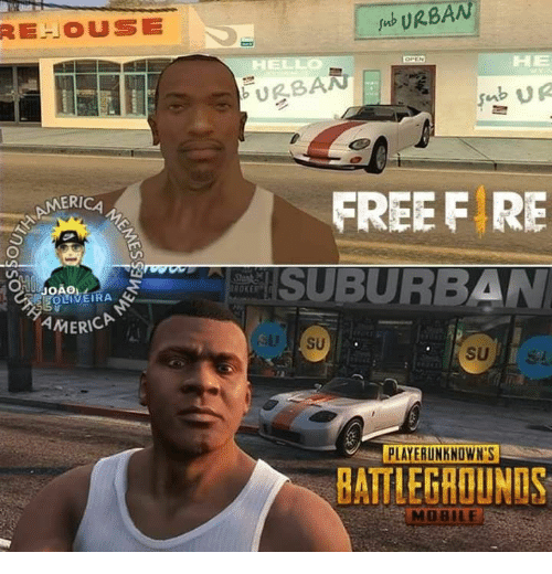 Free, Mobile, and Urban: REHOUSE  Jb URBAN  HE  US  ERICA  FREE F RE  OKE  EOLIVEIRA  MERICA  PLAYERUNKNOWN'S  BATTLEGROUNOS  MOBILE