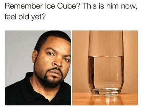 Ice Cube, Old, and Ice: Remember Ice Cube? This is him now  feel old yet?