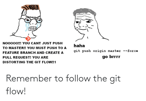 The: Remember to follow the git flow!