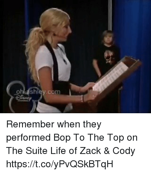 suite life: Remember when they performed Bop To The Top on The Suite Life of Zack & Cody https://t.co/yPvQSkBTqH
