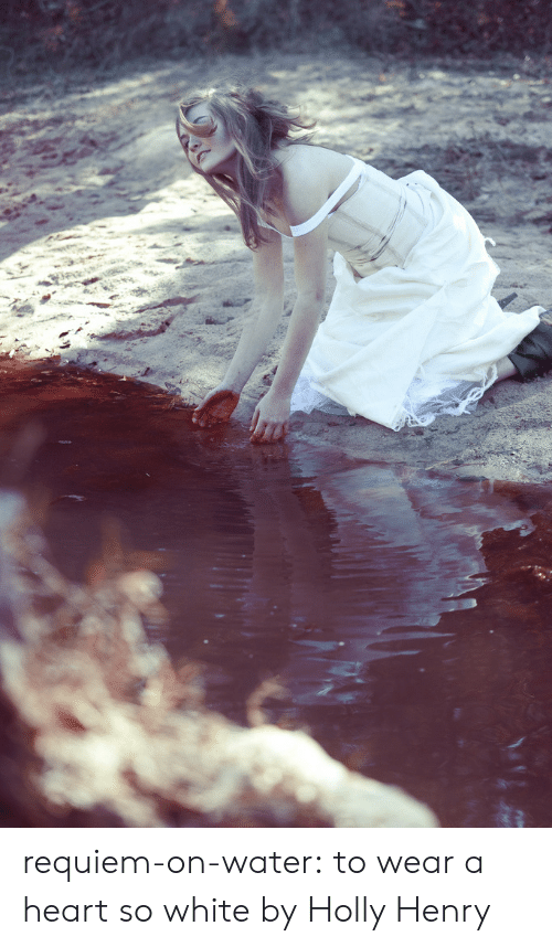 Tumblr, Blog, and Flickr: requiem-on-water:    to wear a heart so whitebyHolly Henry