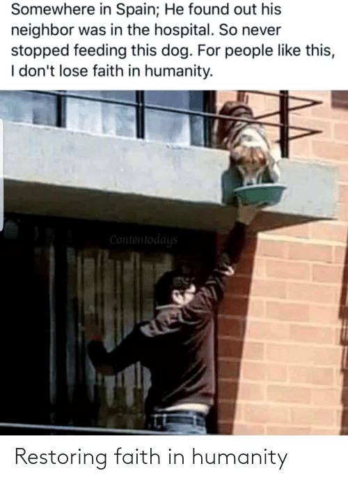 Faith In Humanity: Restoring faith in humanity