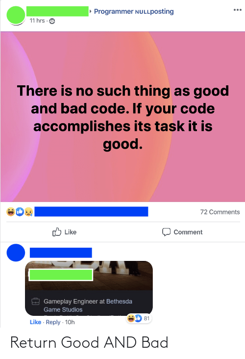 Bad: Return Good AND Bad