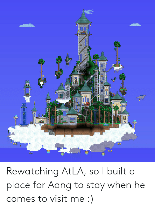 Aang, Atla, and Stay: Rewatching AtLA, so I built a place for Aang to stay when he comes to visit me :)