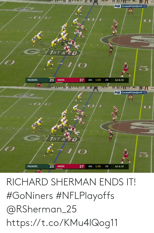 Ends: RICHARD SHERMAN ENDS IT! #GoNiners #NFLPlayoffs @RSherman_25 https://t.co/KMu4lQog11
