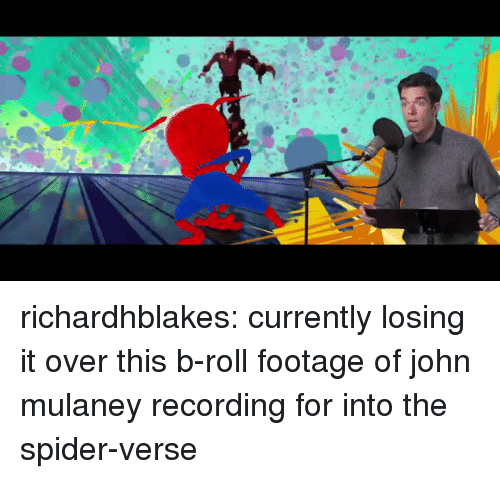 John Mulaney: richardhblakes:  currently losing it over this b-roll footage of john mulaney recording for into the spider-verse