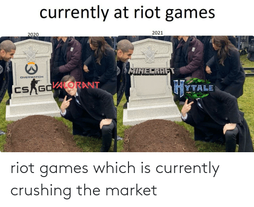 riot: riot games which is currently crushing the market