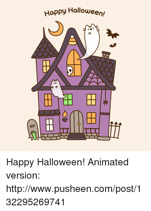 Pusheens: RIP  Happy Halloween Happy Halloween!  Animated version: http://www.pusheen.com/post/132295269741