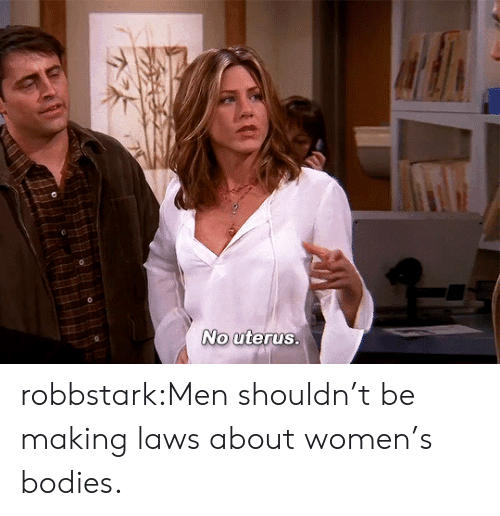 Bodies , Tumblr, and Blog: robbstark:Men shouldn't be making laws about women's bodies.